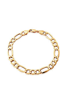 Belk & Co. Figaro Bracelet in 10K Yellow Gold