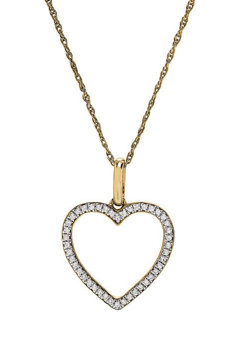 Belk & Co. 1/6 ct. t.w. Diamond Heart