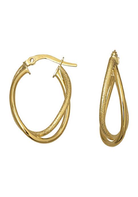 Belk & Co. Hoop Earrings in 14K Yellow