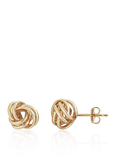 Belk & Co. Knot Stud Earrings in 14K