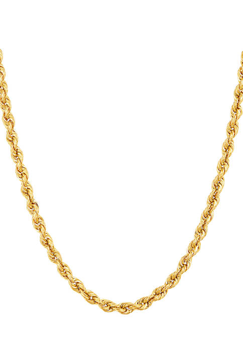 Belk & Co. 14K Yellow Gold Hollow Rope