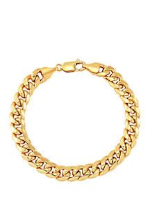 Belk & Co. Men's Chain Bracelet in 14k Yellow Gold