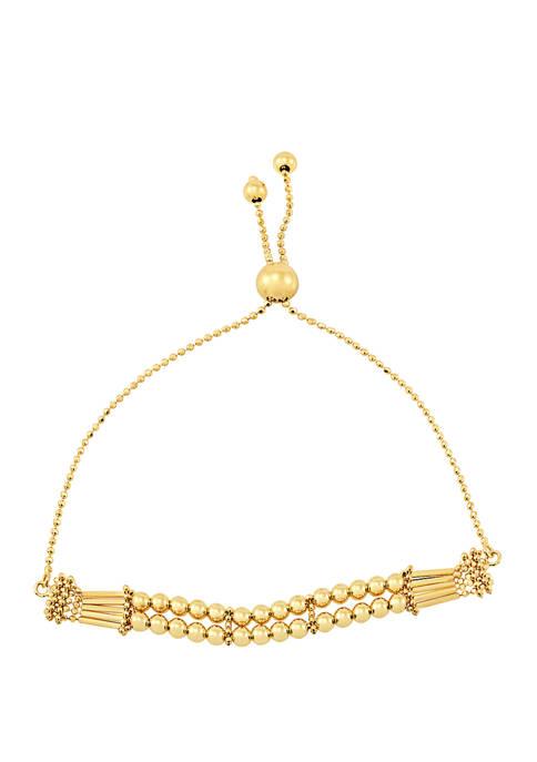 Fancy Beaded Bolo Bracelet