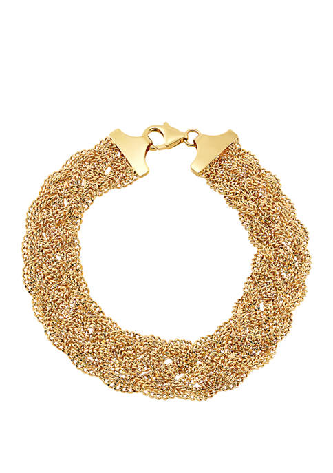 Hollow Beaded Mesh Bracelet