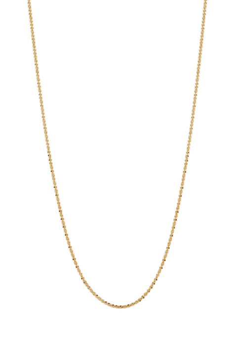 Belk & Co. 14K Gold Crisscross Sparkle Chain