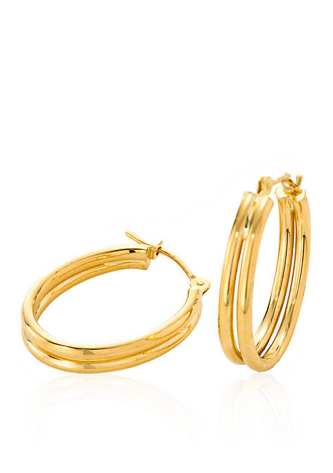 Belk & Co. 14K Yellow Gold Double Hoop