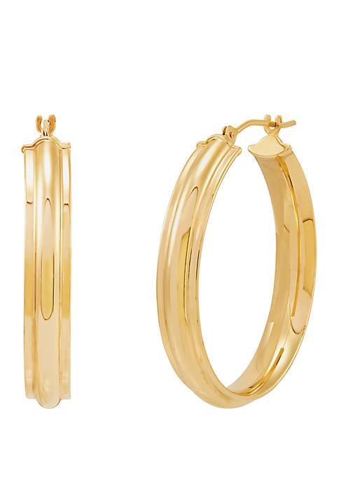 Belk & Co. Textured Hoop Earrings in 14k