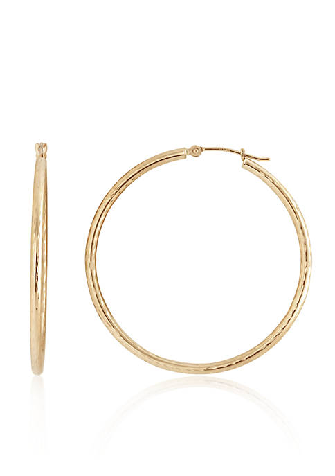 Hoop Earrings in 14K Yellow Gold