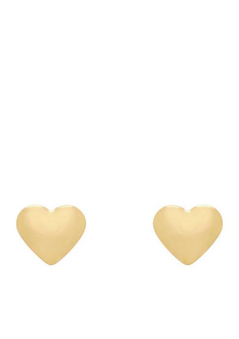 Belk & Co. Polished Heart Stud Earrings in