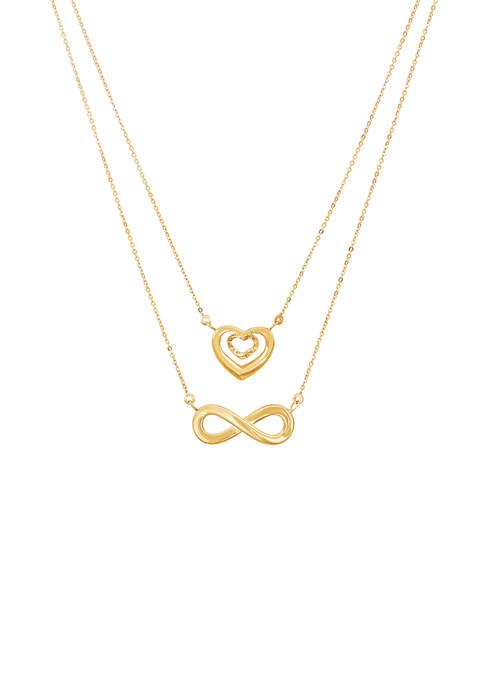 Belk & Co. Layered Infinity & Heart Element
