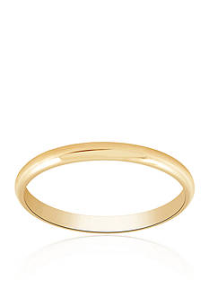 Belk & Co. Polished Wedding Band Ring in 14k Yellow Gold