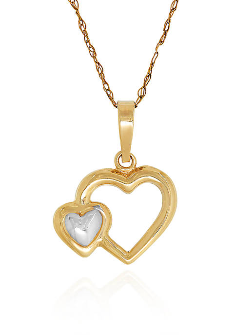 Belk & Co. 14k Yellow Gold Double Heart