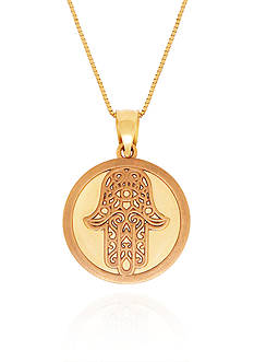 Belk & Co. 14k Yellow Gold Hamsa Pendant