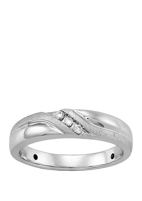 0.06 ct. t.w. Diamond Ring in 10k White Gold