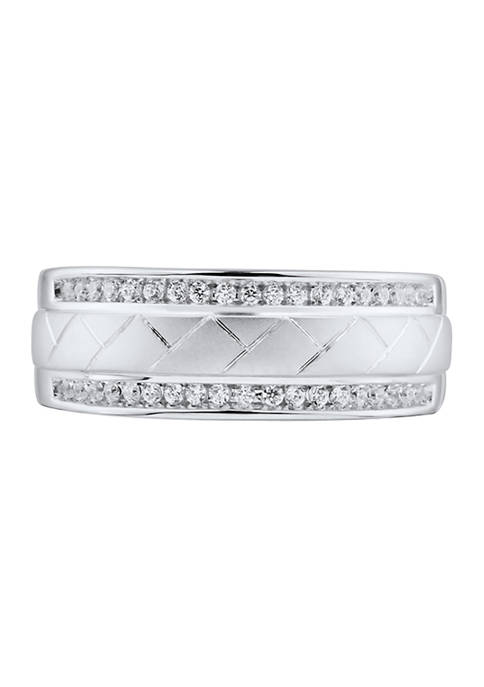 1/4 ct. t.w Diamond Gents Ring in 14K White Gold