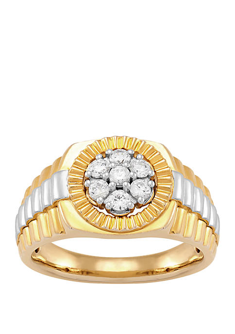 1/4 ct. t.w. Diamond Ring in Gold Plated Sterling Silver