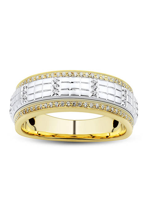 1/3 ct. t.w Diamond Gents Ring in 10K Yellow and White Gold