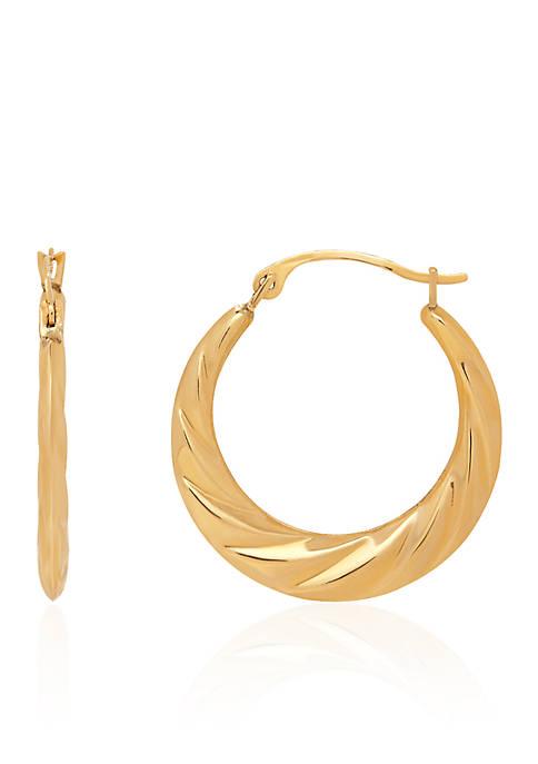 Belk & Co. Swirl Hoop Earrings in 14k