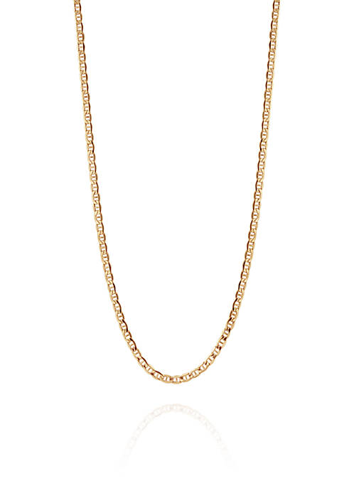 Belk & Co. Bevelled Chain Necklace in 14K