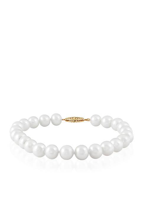 Freshwater Pearl Bracelet in 14k Yellow Gold