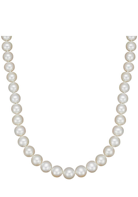 Freshwater Pearl Strand Necklace in 14K Yellow Gold
