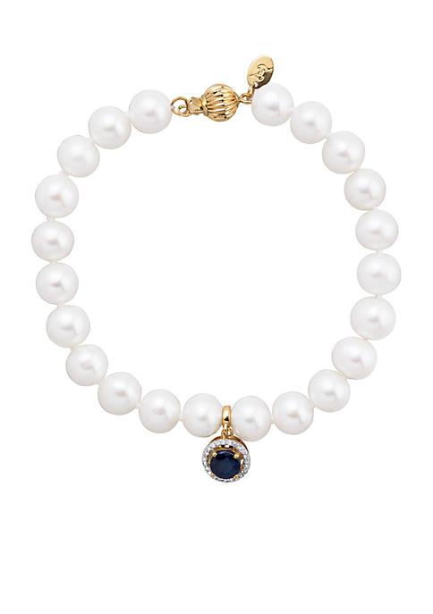 Belk & Co. 0.07 ct. t.w. Diamond, Sapphire,