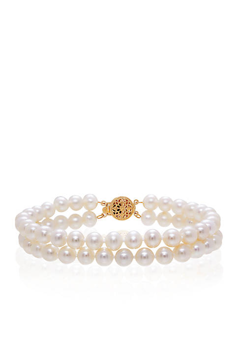 Belk & Co. Two Row Freshwater Pearl Bracelet