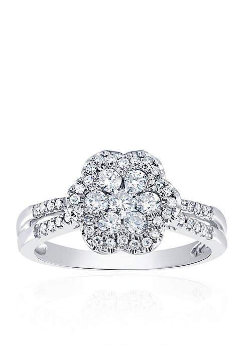 Belk & Co. 5/8 ct. t.w. Diamond Cluster