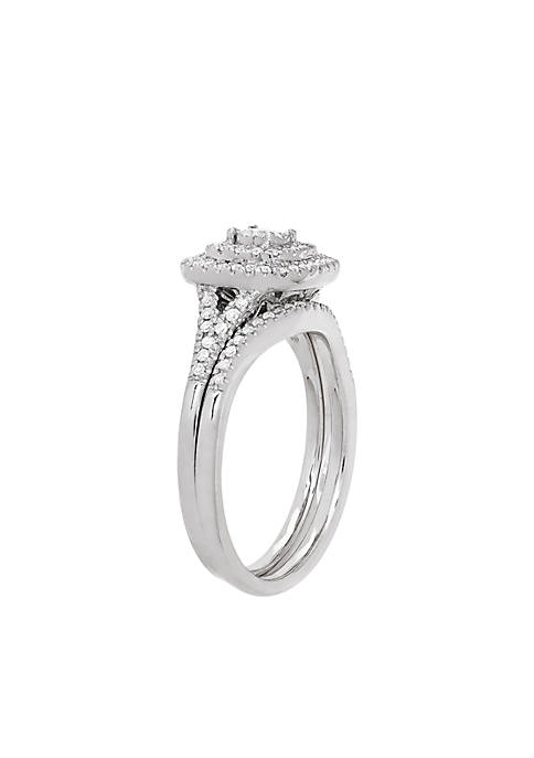 My Forever 3/8 ct. t.w. Diamond Bridal Ring Set in 10K White Gold