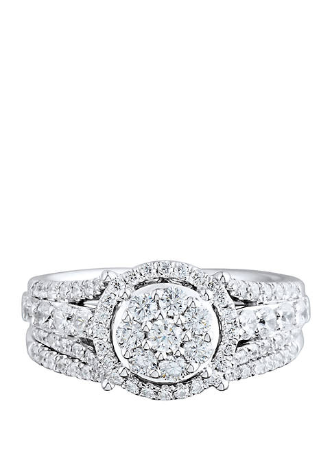 My Forever 1/2 ct. t.w. Diamond Composite Bridal Set in 10k White Gold