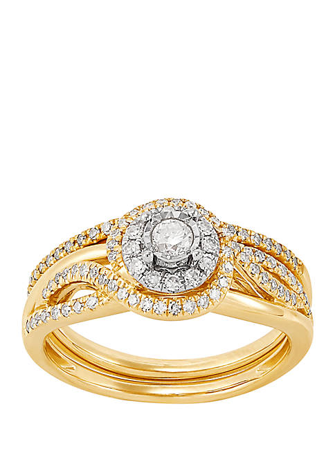 My Forever 1/2 ct. t.w. Diamond Bridal Ring Set in 10k Yellow Gold