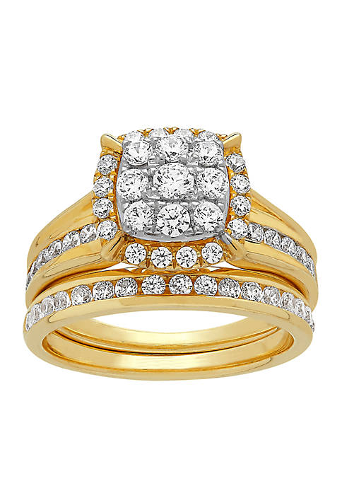 My Forever 1 ct. t.w. Diamond Bridal Ring Set in 10k Yellow Gold