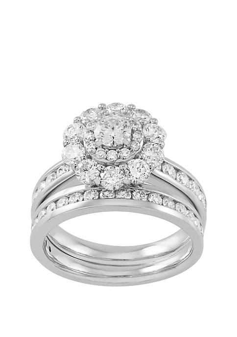 My Forever 2 1/2 ct. t.w. Diamond Composite Bridal Set in 10k White Gold