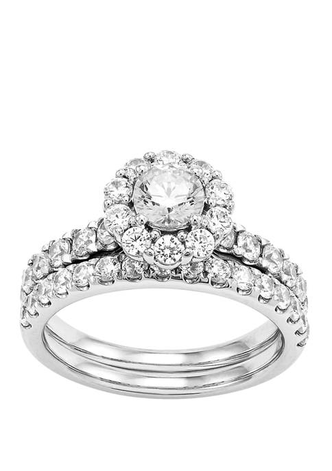 My Forever 2 ct. t.w. Round Diamond Bridal Ring Set in 14k White Gold