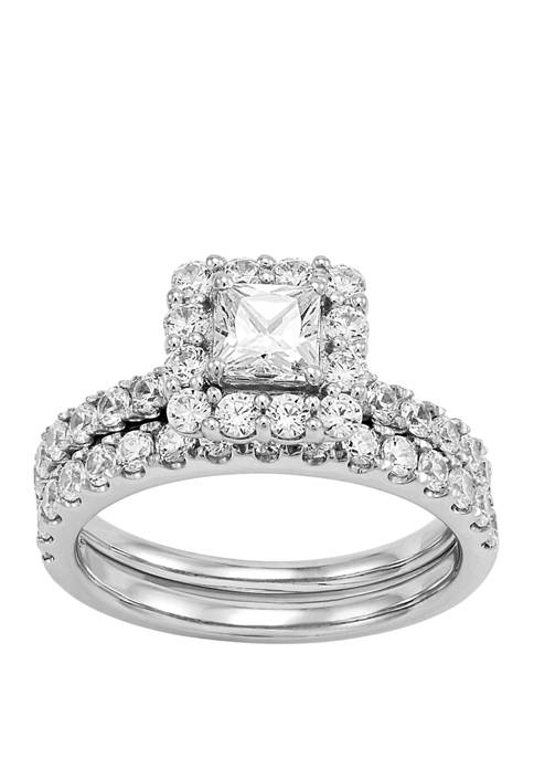 My Forever 2 ct. t.w. Princess & Round Diamond Bridal Ring Set in 14k White Gold