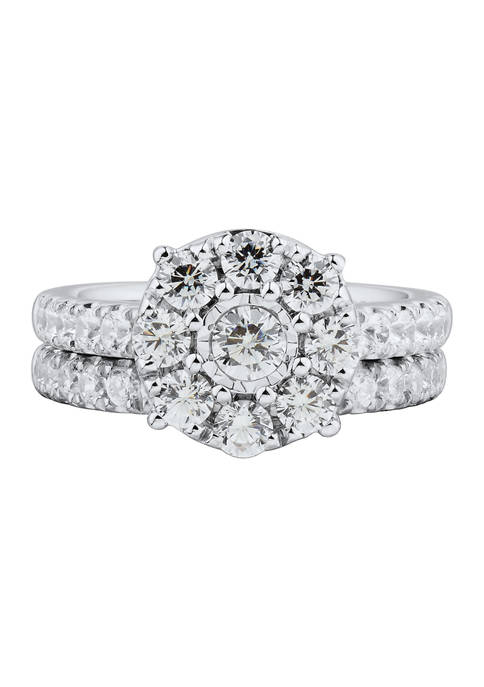 My Forever 2ct. t.w. Diamond Composite Bridal Ring Set in 10k White Gold