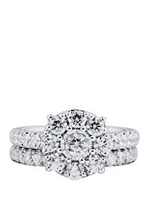 2 ct. t.w. Diamond Bridal Ring Set in 10k White Gold