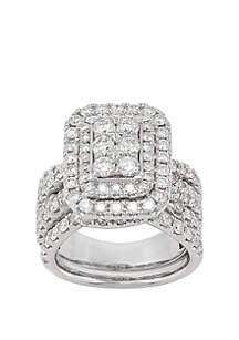 Belk & Co. 3.0 ct. t.w. Diamond Bridal Ring in 10k White Gold