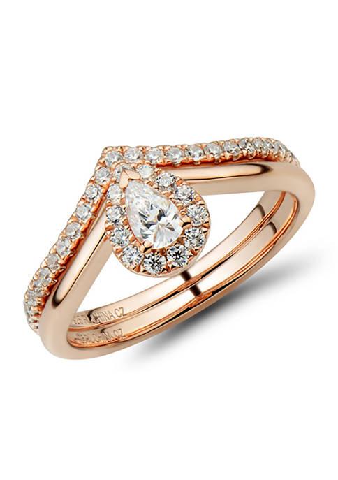 1/2 ct. t.w Diamond Bridal Ring Set in 14K Rose Gold