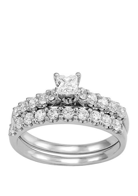 My Forever 1 ct. t.w. Round Diamond Bridal Ring Set in 14k White Gold