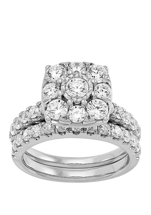 My Forever 2 ct. t.w. Diamond Composite Bridal Set in 10k White Gold