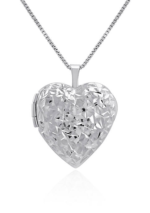 Belk & Co. Heart Locket Necklace in Sterling
