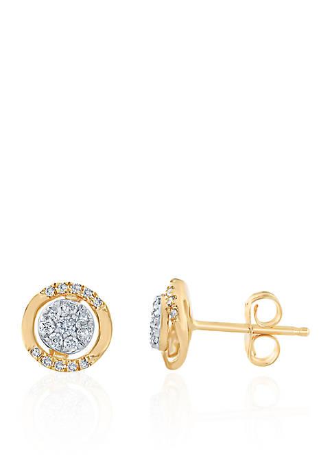 .202 ct. t.w. Diamond Earrings in 14k Yellow Gold