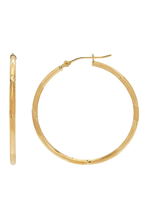 Belk & Co. 14k Gold Hoop Earrings