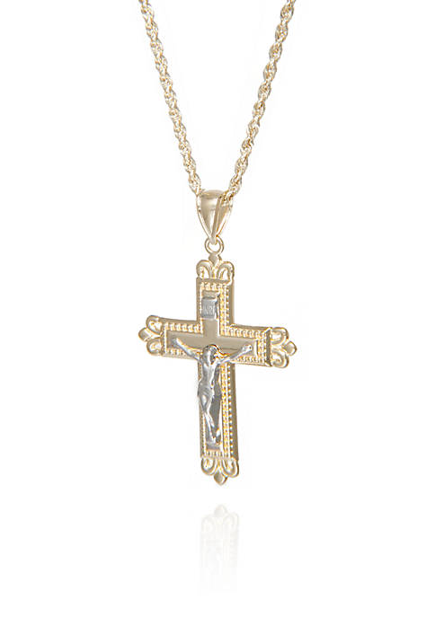 Belk & Co. Crucifix Pendant in 10k Yellow