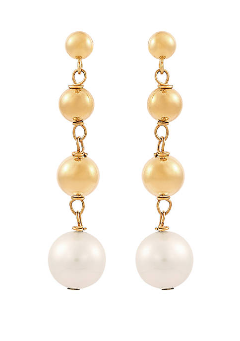 Belk & Co. Fresh Water Pearl Drop Earrings