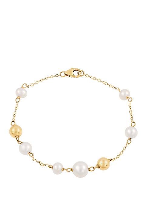 Belk & Co. Fresh Water Pearl Bead Bracelet