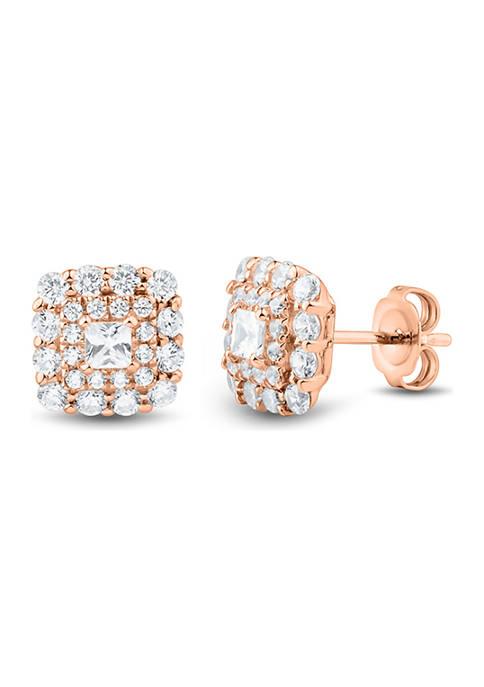 1 ct. t.w. Diamonds Earrings in 10K Rose Gold