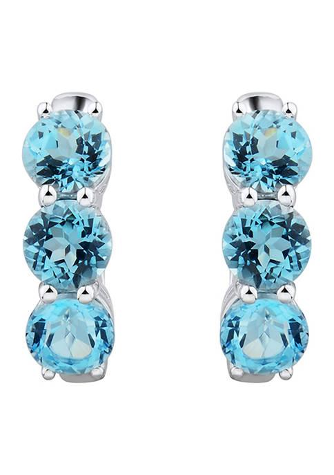 Belk & Co. Blue Topaz Hoop Earrings in