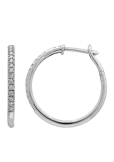 Belk & Co. 10k White Gold Diamond Earrings